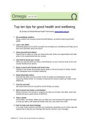 Top ten tips for good health and wellbeing - Omega - uk.net