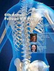 6th Annual Fellows VIP Program 6th Annual ... - Stryker Calendar