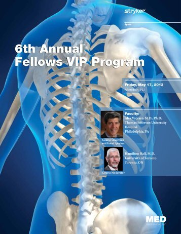 6th Annual Fellows VIP Program 6th Annual ... - Stryker Calendar