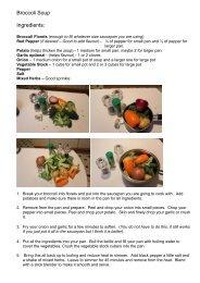 Broccoli Soup Ingredients: - Omega