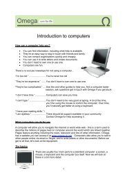 Introduction to computers - Omega - uk.net