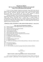 Regolamento didattico - Scienze Politiche