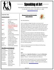 The Monthly Newsletter of the Wilmington Art Association
