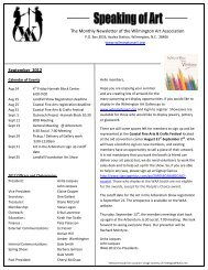 September 2012 - Wilmington Art Association