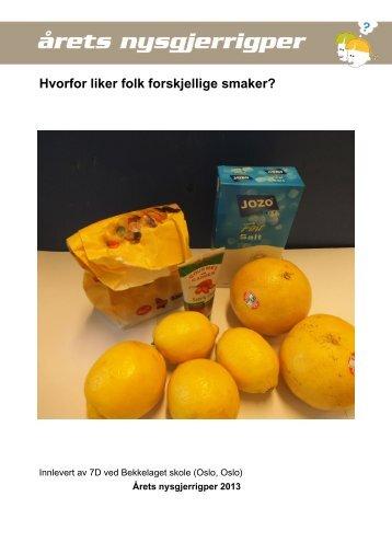 fadc46a2 Last ned prosjektrapport (pdf) - Nysgjerrigpermetoden.no
