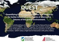 Quantifying Earth system processes and feedbacks for ... - QUEST