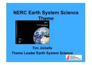 The Earth System Science theme - QUEST: Quantifying and ...