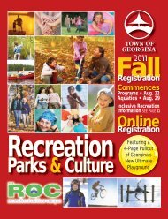 Fall Guide - Town of Georgina