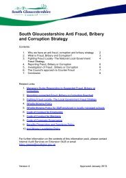 Strategy for combating fraud and corruption - South Gloucestershire ...
