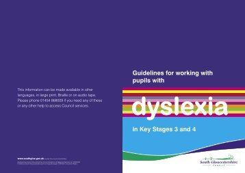 Dyslexia text2.indd - South Gloucestershire Council