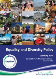 Equality and Diversity Policy - South Gloucestershire Council