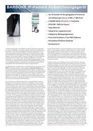 BARBONE IP-Kamera Aufzeichnungsgerät - IP CCTV GmbH