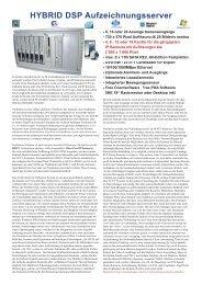 HYBRID DSP Aufzeichnungsserver - IP CCTV GmbH