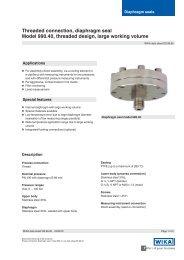Threaded connection, diaphragm seal Model 990.40 ... - WIKA Polska
