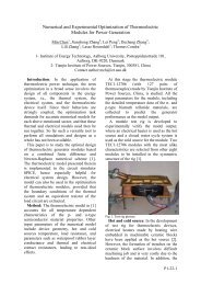 Numerical and Experimental Optimization of Thermoelectric ... - VBN