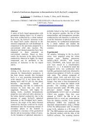Carrier concentration and thermoelectric ... - ECT2008 - CNRS