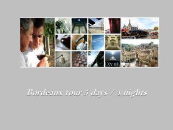 Program Tour Bordeaux - w travel france