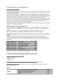 Conseil municipal du 21 décembre 2011 - Cournonterral