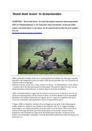 'Dood doet leven' in Groenlanden