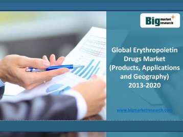Global Erythropoietin Drugs Market (Products, Applications and Geography) 2020
