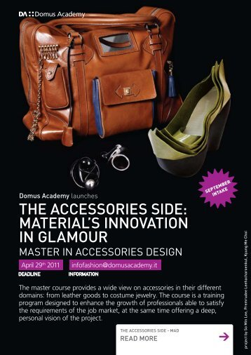 THE ACCESSORIES SIDE: MATERIAL'S INNOVATION IN GLAMOUR