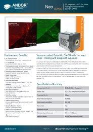 Neo sCMOS - Andor Technology
