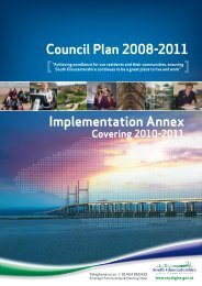 Council Plan implementation annex covering 2010-11 - South ...