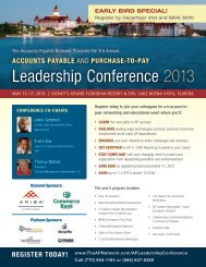 Leadership Conference 2013 - The Accounts Payable Network