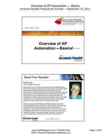 Network automation overview