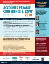 Download Conference Brochure - The Accounts Payable Network