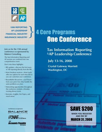 One Conference - The Accounts Payable Network