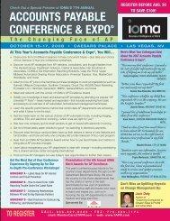 accounts payable conference & expo® accounts payable ...