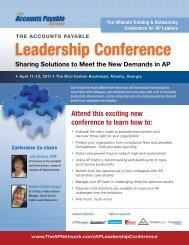 to download Conference Brochure. - The Accounts Payable Network