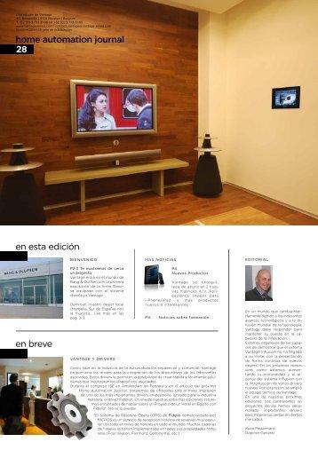 en esta edición en breve home automation journal 28 - Vantage