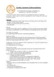 Verslag ALV 2012 - Nederlandse Vereniging van Modelbouwers