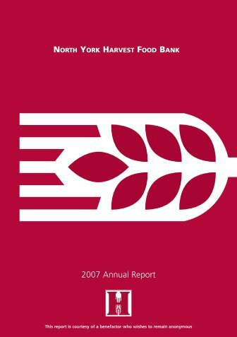 2007 Annual Report - North York Harvest Food Bank