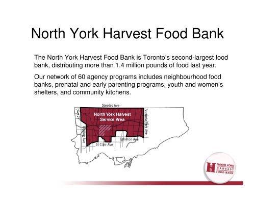 2 North York Harvest Food Bank