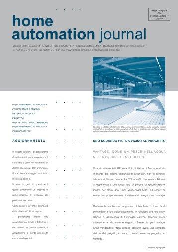 home automation journal - Vantage