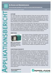 Vision-Sensoren erkennen Falschbögen in der ... - Pepperl + Fuchs