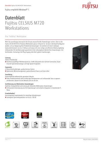 Datenblatt Fujitsu CELSIUS M720 Workstations - Westcam