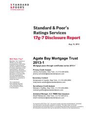Agate Bay Mortgage Trust 2013-1 - Standard and Poor's 17g-7