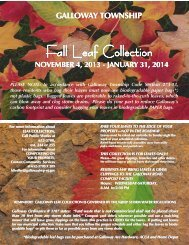 Fall Leaf Collections 2013 - Galloway Township