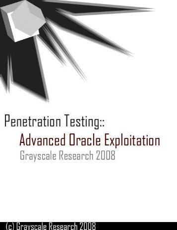 Oracle penetration testing