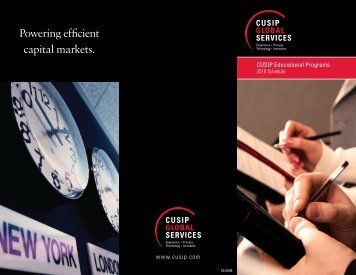Powering efficient capital markets. - CUSIP Global Services
