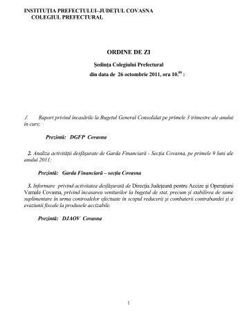 sept. 2011 - Prefectura Judeţului Covasna
