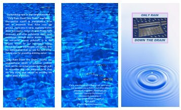 Storm Drain Water Management Brochure - Galloway Township