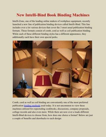 New Intelli-Bind Book Binding Machines