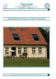 Dachschiebefenster Panorama und OpenAir (S-Varianten)