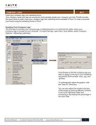 2011 COMPANY LOGO - Calyx Software