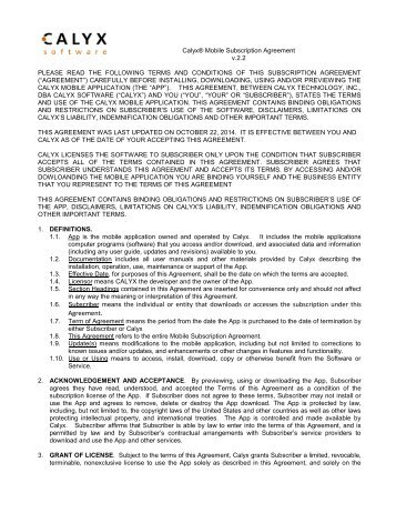 Subscription agreement and power of attorney for for Software subscription agreement template